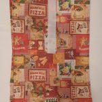 """by dini Ashausen Lunch-Büdel / Frühstücks Beutel """"Pizza-Pasta II"""" Höhe: ca. 43 cm Breite: ca. 21 cm Tiefe: ca. 14 cm Oberstoff: mit Pizza und Pasta Motiven Innenstoff mit Thermobeschichtung mit Klettverschluß schwarz Art: 20144 Preis: 18,00 €"""